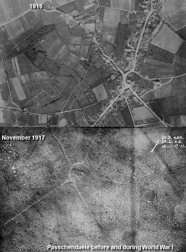 До и во время битвы при Пашендейле Reddit, Первая мировая война, Битва при пашендейле, Война