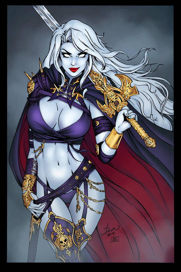 Lady Death Deviantart, Рисунок, Арт, Игры, Snakebitartstudio