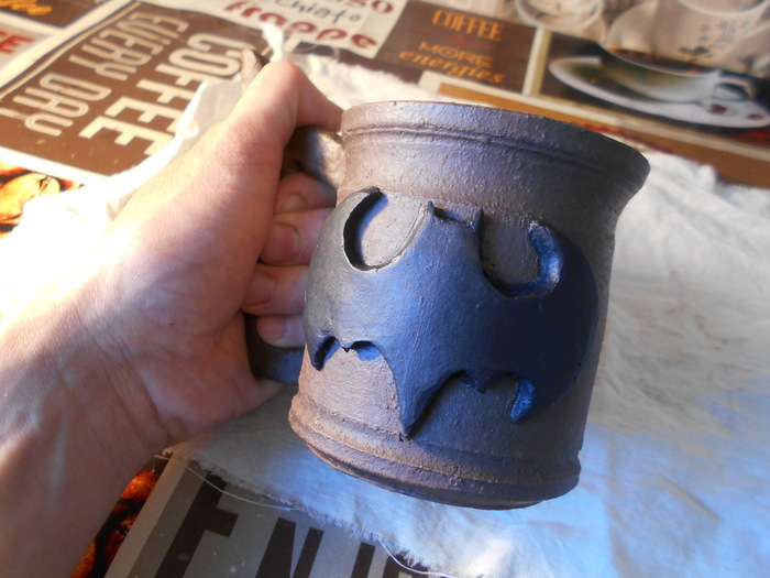 I'm Batman Керамика, Ceramist, Глина, Бэтмен, Amaranth ceramica, Рукоделие с процессом, Длиннопост