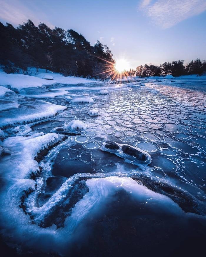 Морозно-прекрасная Финляндия Природа, Финляндия, Фотография, Длиннопост, Лед, Снег