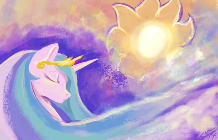 Sunny Day &Stary Night My Little Pony, Princess Celestia, Princess Luna, День и ночь, Ночь и день, Blindcoyote