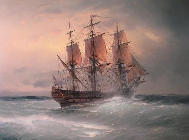 Под парусами. Море, Маренисты, Парус, Шторм, Корабль, Длиннопост