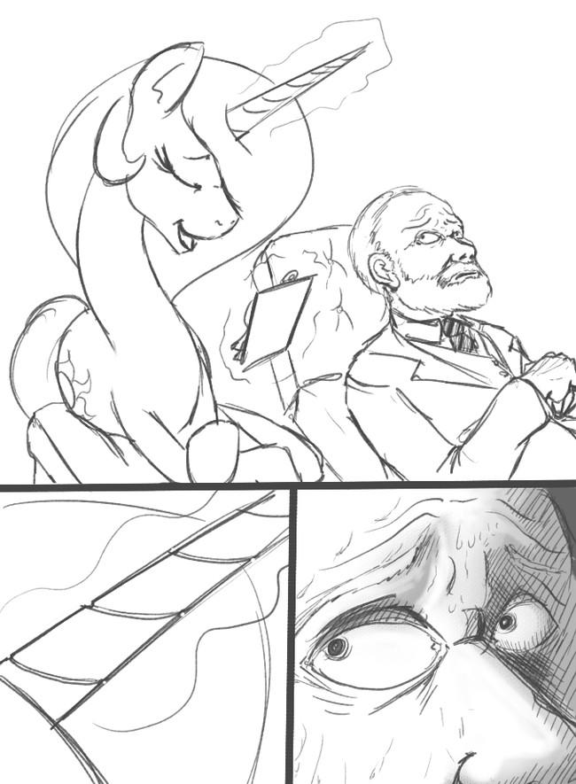 Иногда рог - это просто рог My Little Pony, Princess celestia, Фрейд, Рога