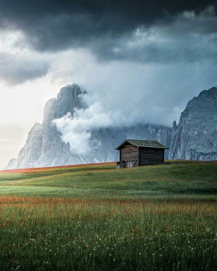 Сейзер Альм. Горы, Доломитовые альпы, Природа, Тишина, Прогулка, Спокойствие, Фотография