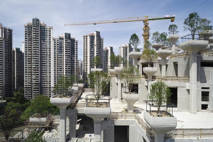 Шанхай , современный вариант чуда света - Висячие сады. Китай, Шанхай, Длиннопост