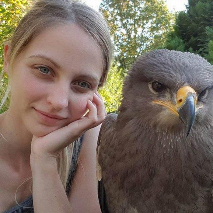 Селфи с птичкой