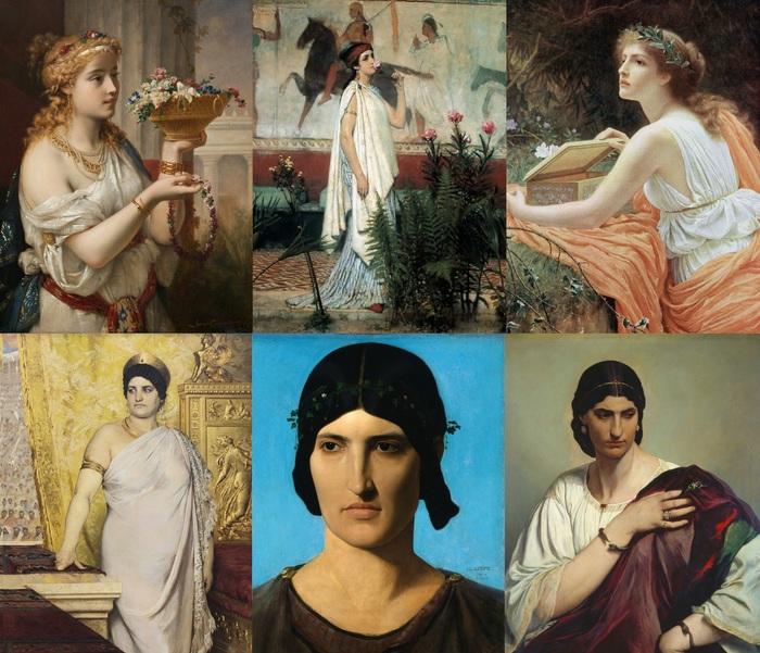 Античные гречанки и римлянки на картинах художников XIX века