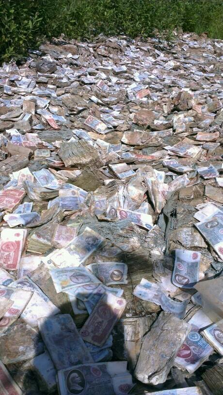 И тут я немного охренел от количества денег... Деньги, Клад, Старые советские деньги, Миллионер, Путешествие по России, Заброшенное, Длиннопост