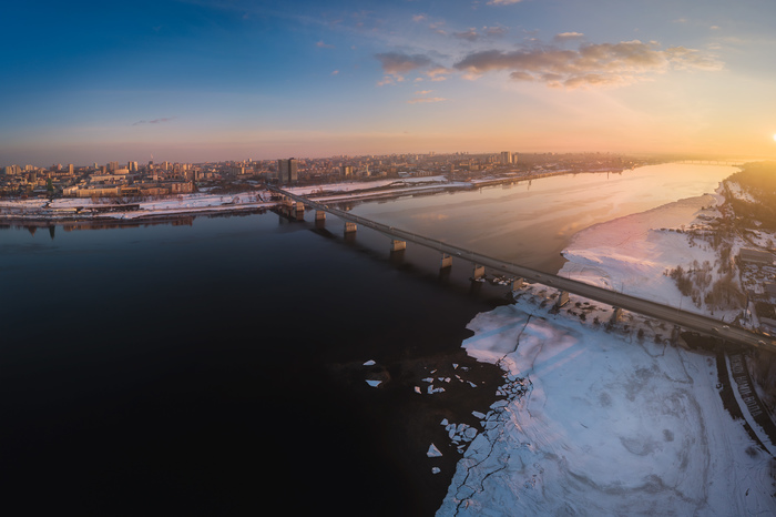 Perm city Пермь, Пейзаж, Фотография, Квадрокоптер, Панорама, Закат, Город, Фотограф