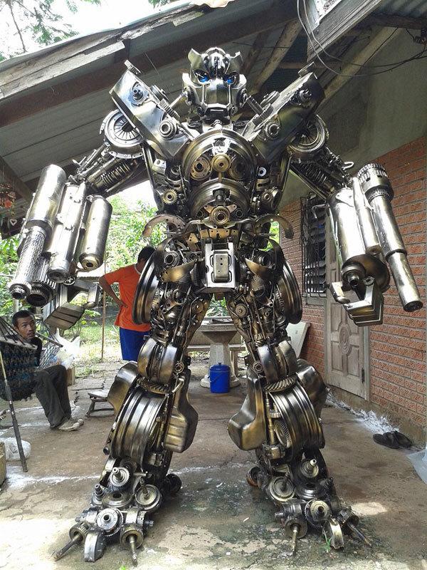 Когда решил замутить робота из хлама в гараже Робот, Скайнет, Длиннопост