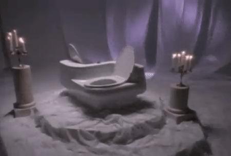 На брудершафт. Туалет, Унитаз, Гифка, Брудершафт, Романтика