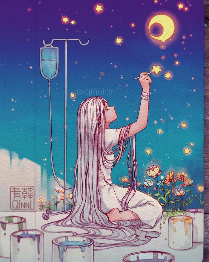 Художник Qing Han Арт, Рисунок, Подборка, Длиннопост, Sailor Moon