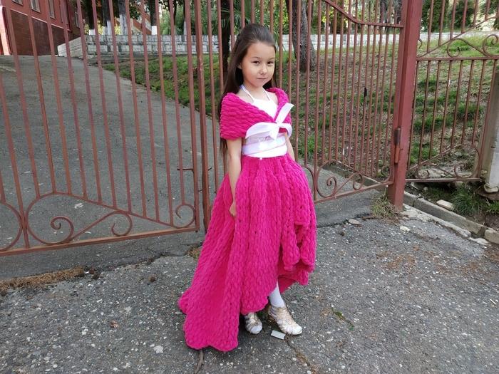 Платье для любимой дочки)))) Вязание, Платье своими руками, Мастер-Класс, Платье, Видео, Длиннопост, Дети