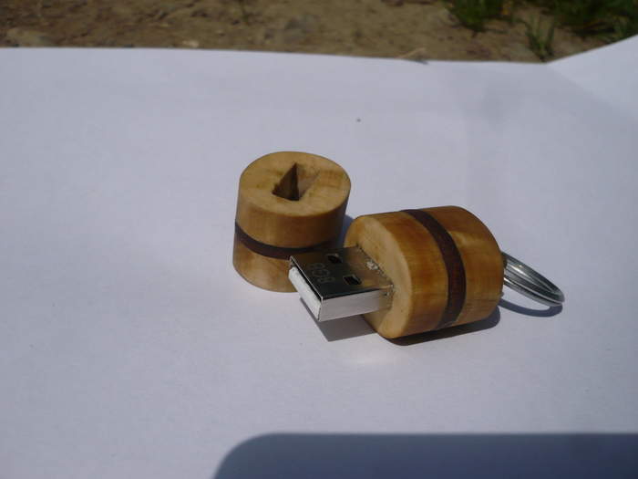Немного о моём хобби Рукоделие без процесса, Ручная работа, Стимпанк, Длиннопост, Флешка из дерева, Нож, Кольцо, Флешки