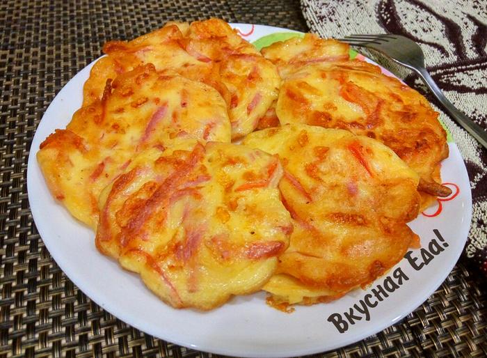Ленивая пицца на завтрак Пицца, Оладьи, Видео, Рецепт, Кулинария