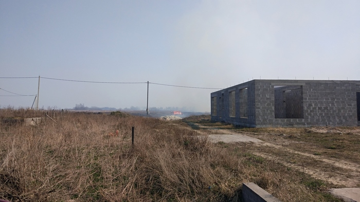 Начало весны Калининградская область, Весенний пал, Пожар, Видео