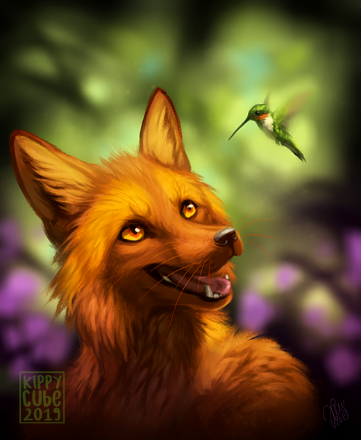 Humming with Excitement Фурри, Furry Art, Furry Fox, Kippurable