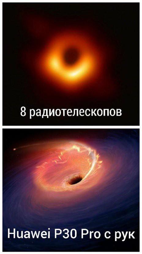 В свете последних событий Huawei, Черная дыра, Камера