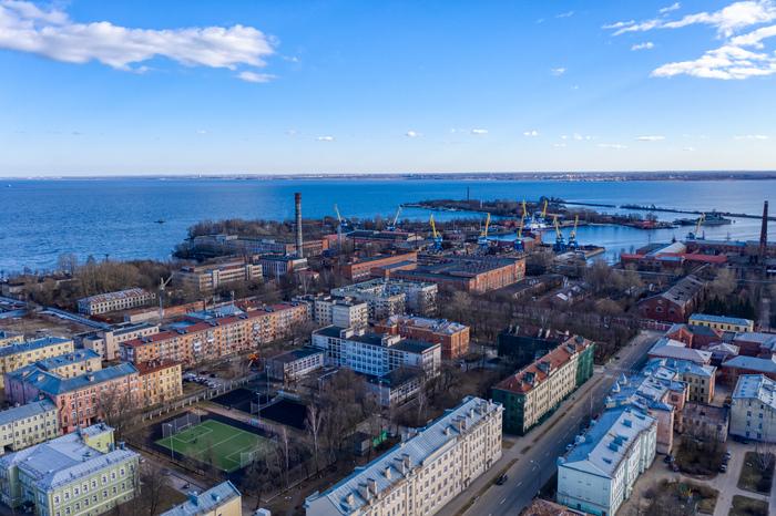Пейзажи Кронштадта Кронштадт, Аэросъемка, Длиннопост, Фотография