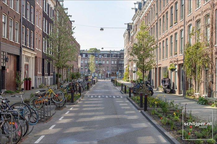 Одна и та же улица в Амстердаме с разницей в полгода. Урбанистика, Европа, Авто, Велосипед, Обновление, Амстердам, Было-Стало, Дорога