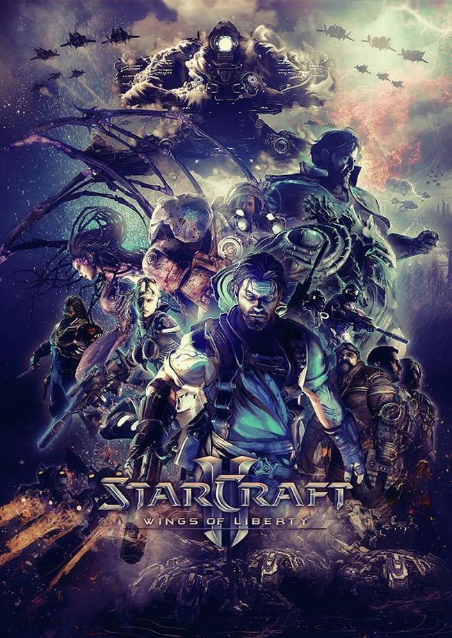 Крылья свободы Starcraft, Starcraft 2, Blizzard, Компьютерные игры, Постер, Арт