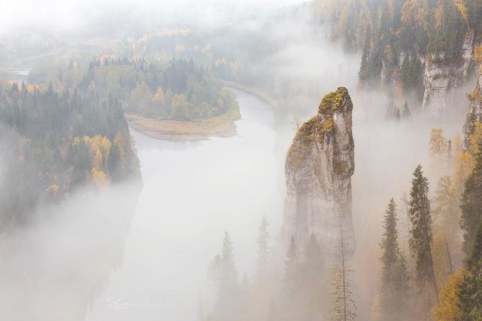 Речка в тумане...