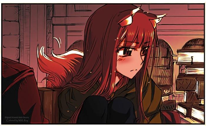 Волчица и важный опрос для подписчиков ее тега! Аниме, Волчица и пряности, Horo Holo, Опрос, Koume Keito, Anime Art