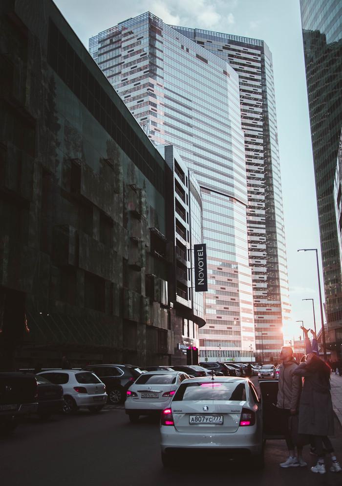 Закат в Moscow City Начинающий фотограф, Город, Фотография, Закат, Москва, Длиннопост