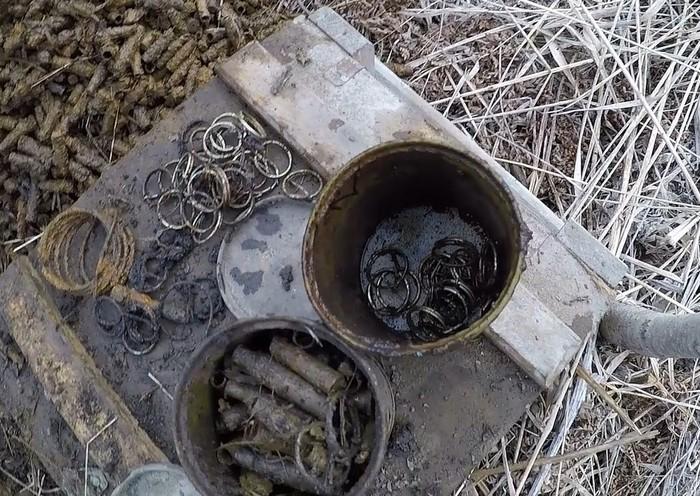 Нашли 115 артиллерийских гильз магнитом и металлоискателем Металлоискатель, Находка, Хобби, Поисковый магнит, Копатель, Длиннопост