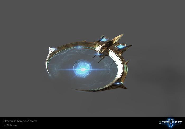 Шикарная модель темпеста из StarСraft 2 Starcraft, Starcraft 2, Протоссы, Компьютерные игры, 3D моделирование, Юнит, Длиннопост
