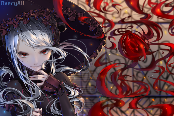 Вампир Аниме, Anime Art, Overlord, Shalltear Bloodfallen, Кровь