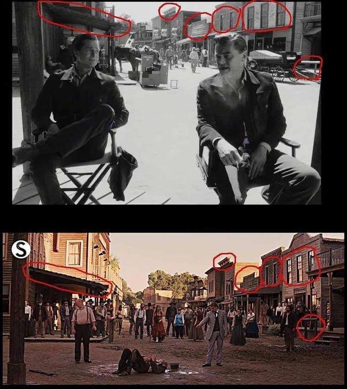 Сравнение сцен из фильмов Тарантино Фильмы, Однажды в Голливуде, Сравнение, Кадр из фильма, Квентин Тарантино, Джанго Освобождённый