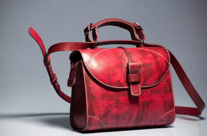 """""""Женская сумка на каждый день - """"Бургундия"""" """"Burgundy"""" для Любимой"""" Кожевенное ремесло, Крафт, Кожа, Женщина, Длиннопост"""