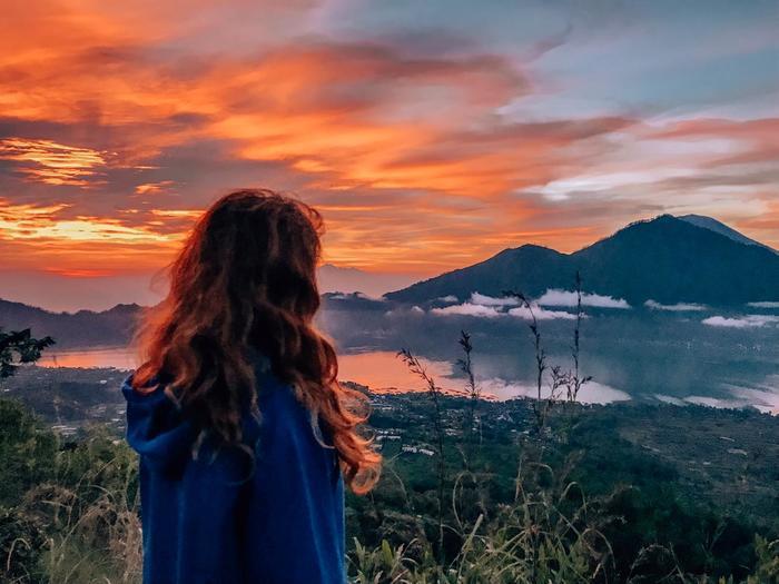 Рассвет на вулкане Батур, Бали