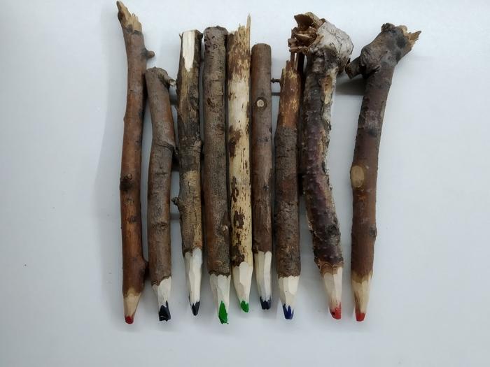 Карандаши из веток Рукоделие, Рукоделие с процессом, Из говна и палок, Длиннопост