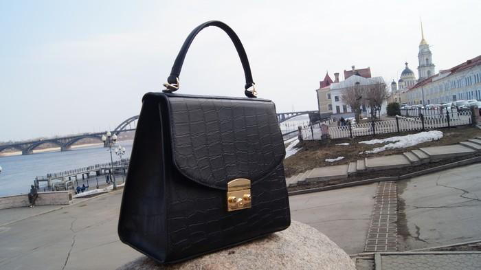 Элегантная сумочка из натуральной кожи. Женская сумка, Рукоделие без процесса, Своими руками, Кожа натуральная, Длиннопост