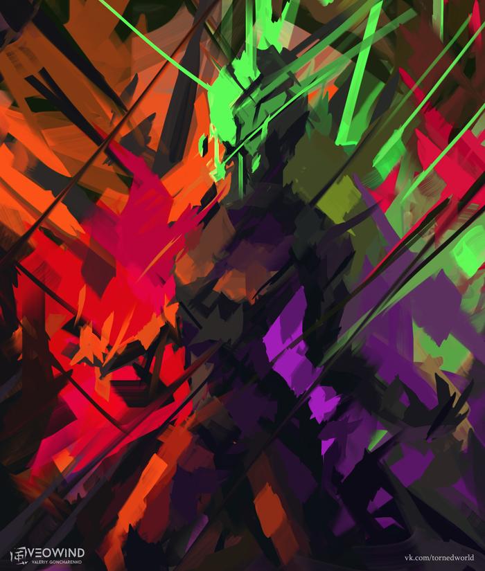 """Эксперимент. """"/?: [0?2?/]"""" Veowind, Цифровой рисунок, Рисунок, Цвет, Эксперимент"""