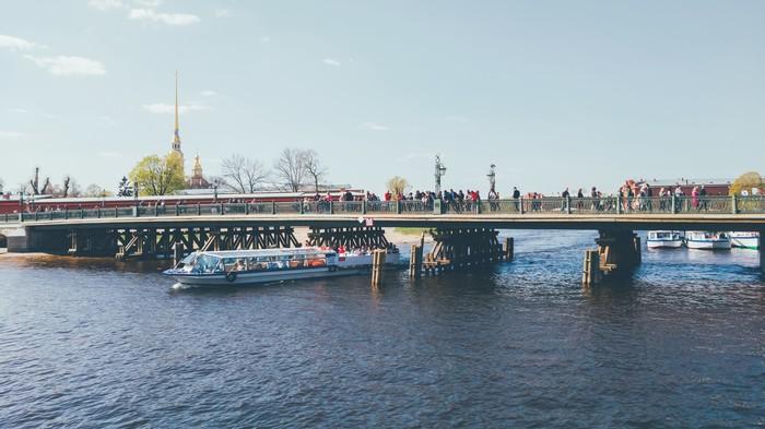 Иоанновский мост Фотография, Санкт-Петербург, Петропавловская крепость, Мост, Мобильная фотография, Google pixel, Ligthroom, Весна