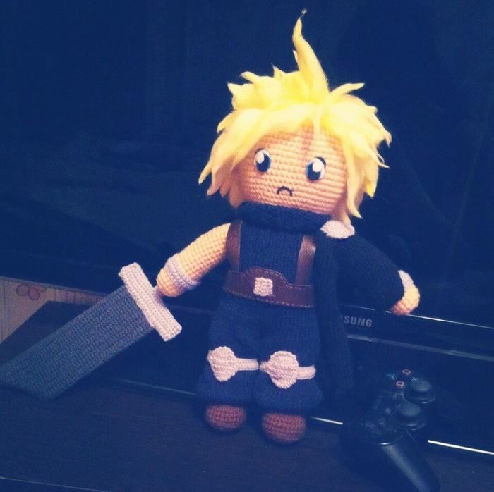 Клауд Страйф Вязаные игрушки, Амигуруми, Рукоделие, Final Fantasy, Длиннопост, Cloud Strife