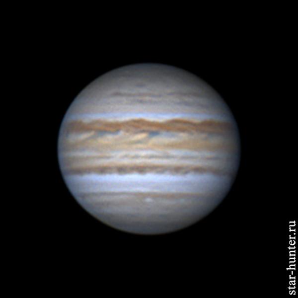 Юпитер, 5 мая 2019 года, 01:32 Юпитер, Астрофото, Астрономия, Космос, Планета, Starhunter, Анападвор