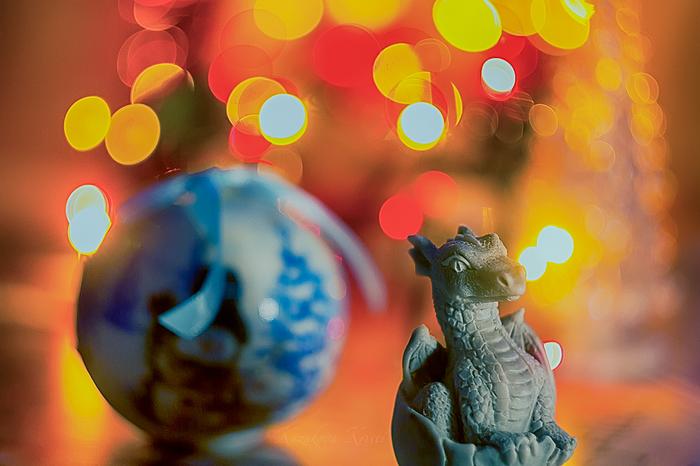 Дух Оранжевого Новогоднего Дракоши Дракон, Фотография, Canon, Новый Год, Настроение, Рождество, Праздники