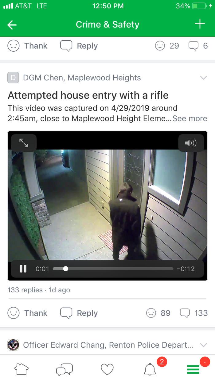 Чел с автоматом в спальном районе. США, Вашингтон, Криминал, Оружие, Длиннопост