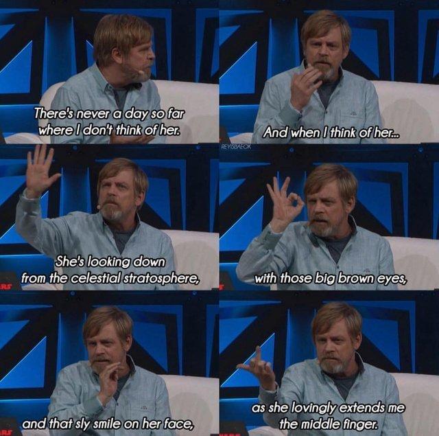 Марк Хэмилл вспоминает Кэрри Фишер Star Wars, Марк Хэмилл, Кэрри Фишер, Цитаты, Картинки