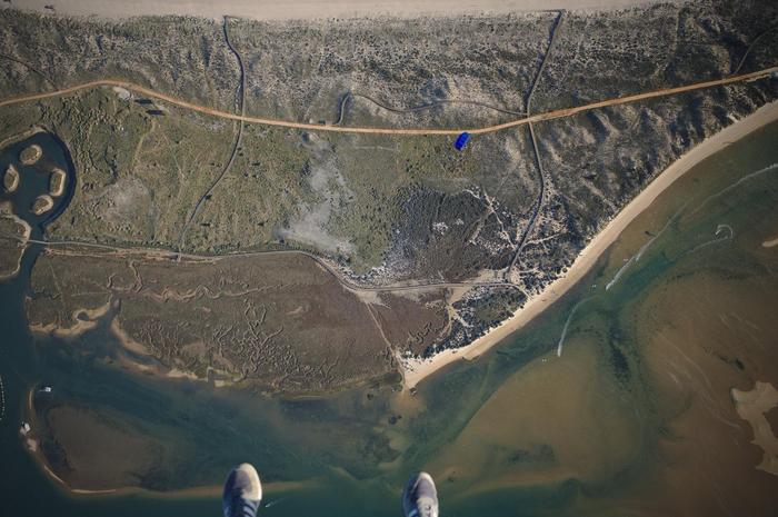Последний шаг, он трудный самый. Парашют, Вид из самолёта, Скайдайвер, Фотография