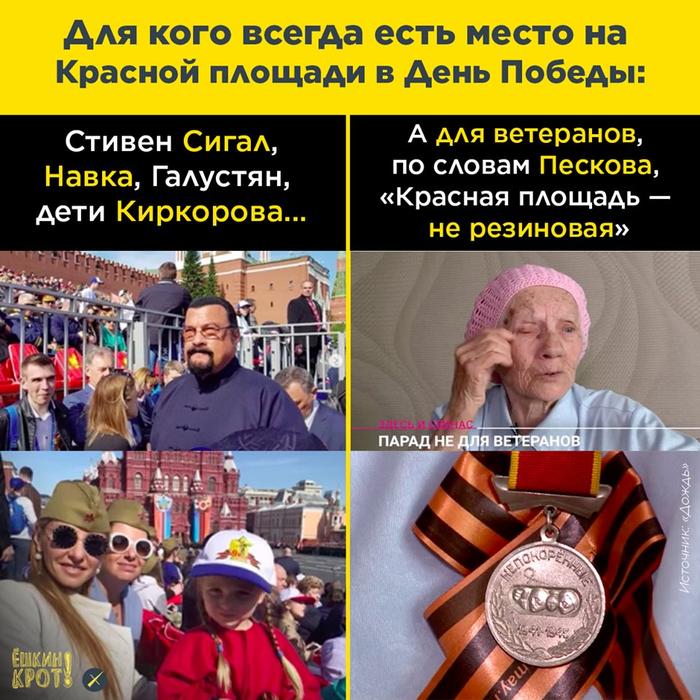 «К сожалению, Красная площадь — не резиновая» Парад Победы, Ветераны, Красная площадь, Песков, 9 мая