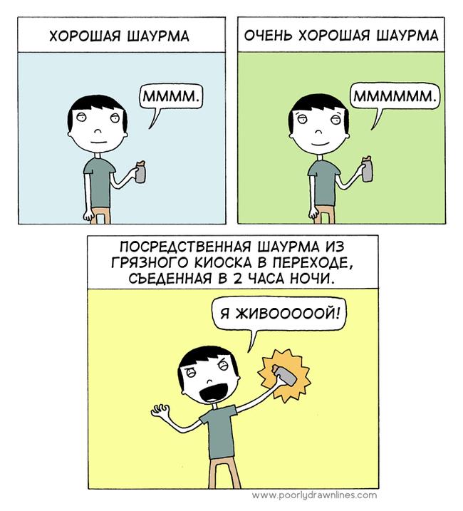 Шаурма Перевел сам, Poorly Drawn Lines, Комиксы