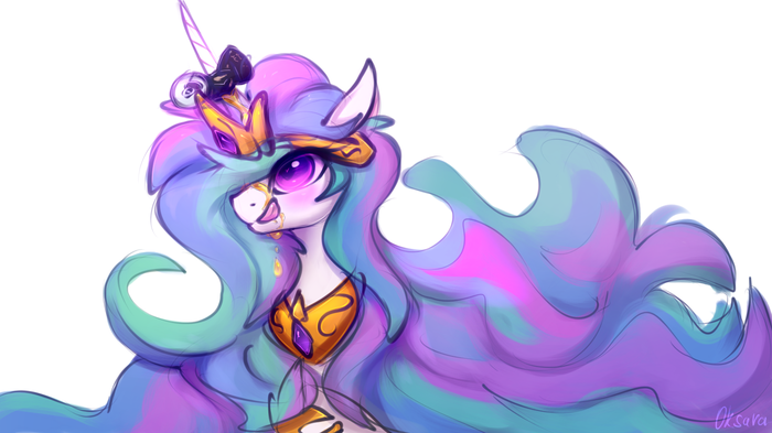 Sweet drops My Little Pony, Princess Celestia, Oksara