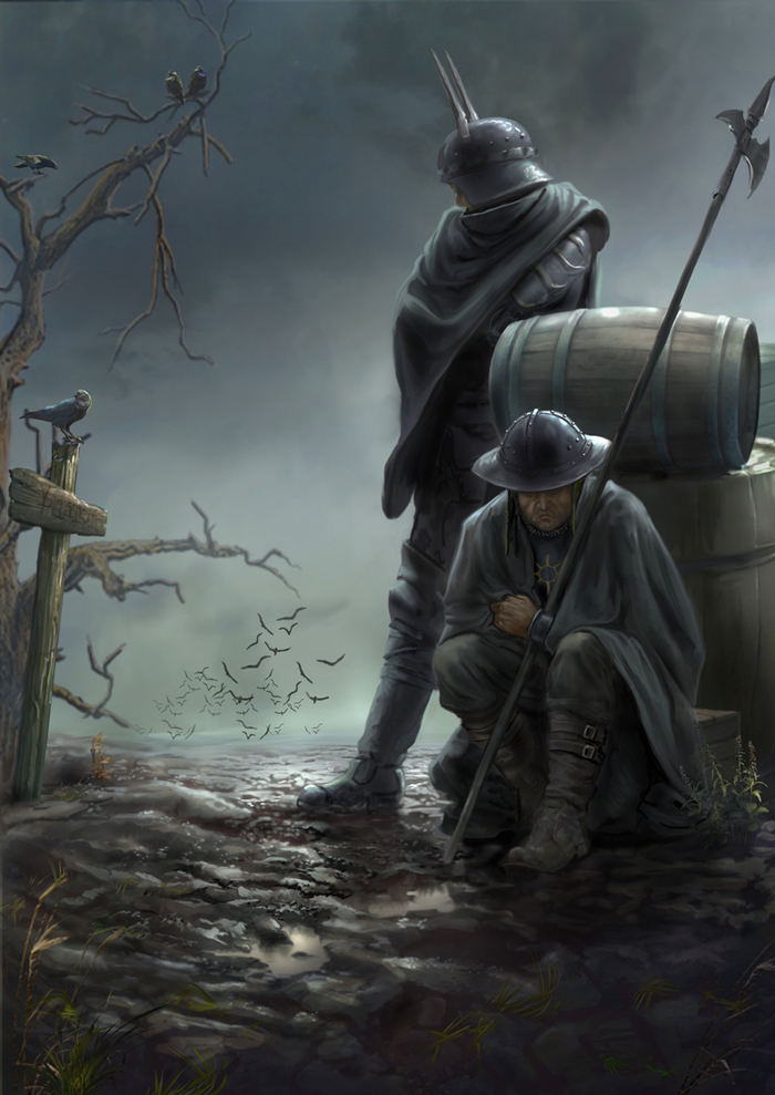 Нильфгаардцы в Велене Арт, Рисунок, Ведьмак, The Witcher 3:Wild Hunt, Велен, Нильфгаард, Yuriplatov