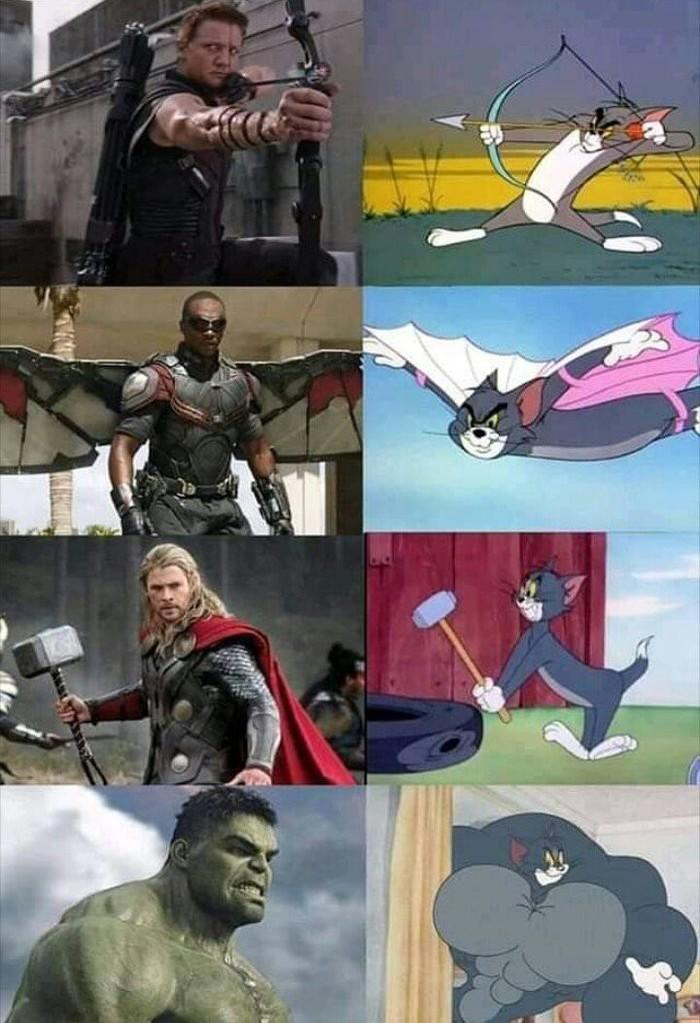 Ха, Том в одиночку порешает Таноса