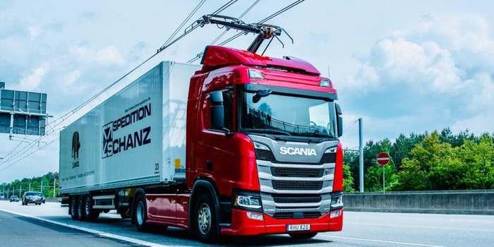 В Германии открыли первый участок автомагистрали для грузовиков-троллейбусов События, Новости, Экологичный транспорт, Технологии, Высокие технологии, Длиннопост
